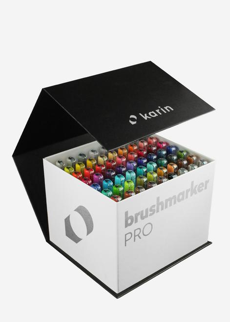 Karin Brushmarker Pro 60 Markers Mega Box Plus 3 Blenders - 27C7