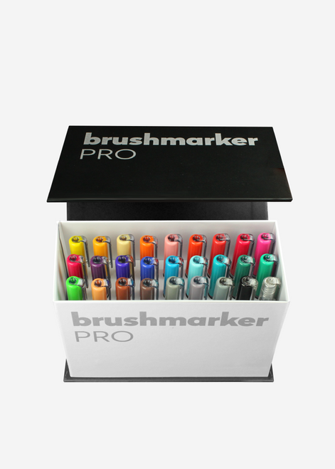 Karin Brushmarker Pro 26 Markers Mini Box Plus 1 Blender - 27C9