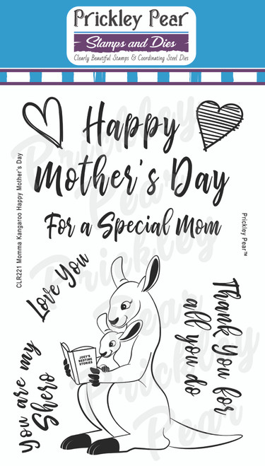 Momma Kangaroo Happy Mother's Day Clear Stamp Set CLR221