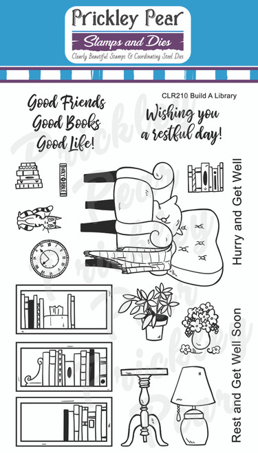 Build A Library Clear Stamp Set # CLR210
