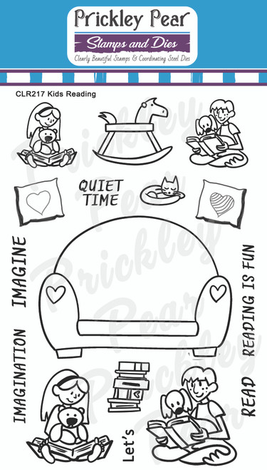 Kids Reading Clear Stamp Set CLR217