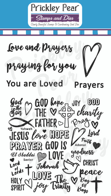 Love and Prayers Clear Stamp Set CLR211