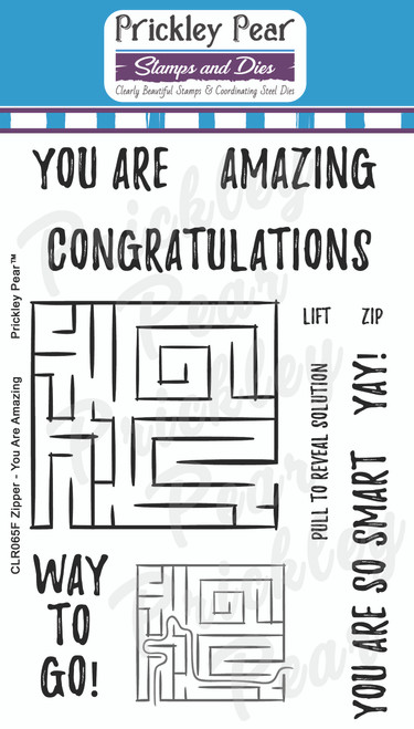 Zipper - You Are Amazing Clear Stamp Set CLR065F