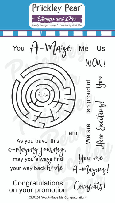 You A-Maze Me Congratulations Clear Stamp Set CLR207