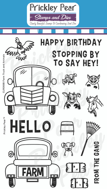 Farm Truck and Animals Clear Stamp Set CLR069B