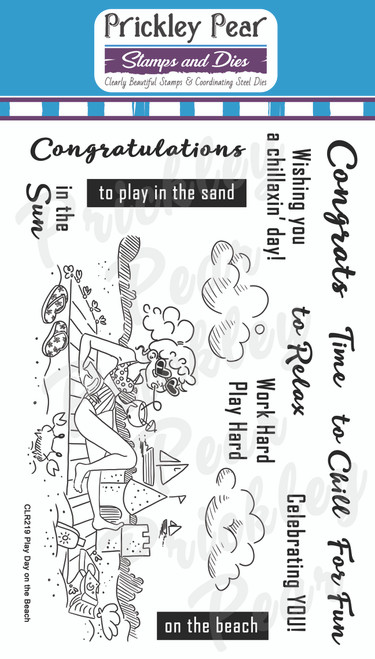 CLR219 Play Day on the Beach Clear Stamp Set
