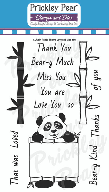 Panda Thanks Love and Miss You Clear Stamp Set CLR214
