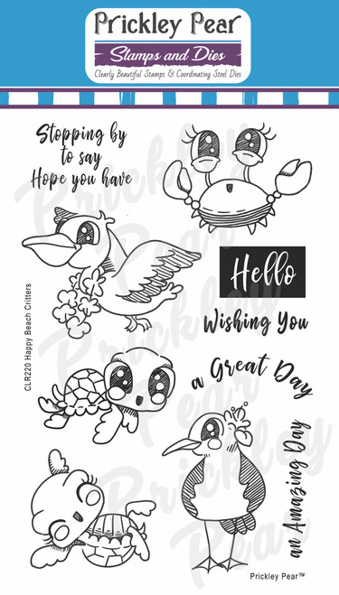 Happy Beach Critters Clear Stamp Set CLR220