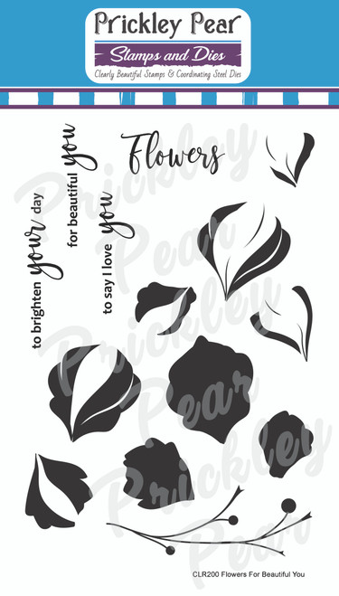 Build a Flower - Flowers for Beautiful You Clear Stamp Set CLR200