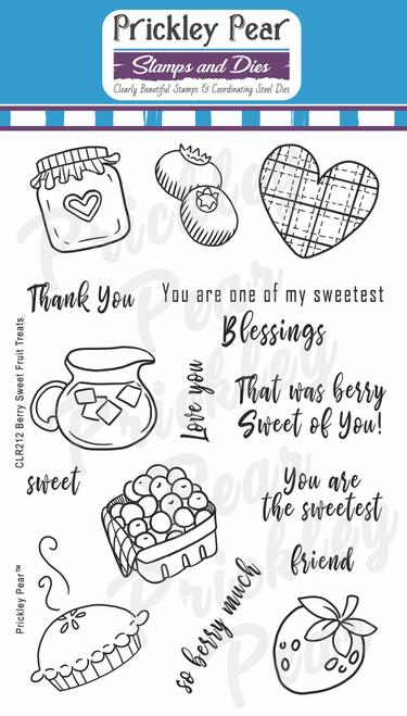 Berry Sweet Fruit Treats Clear Stamp Set CLR212