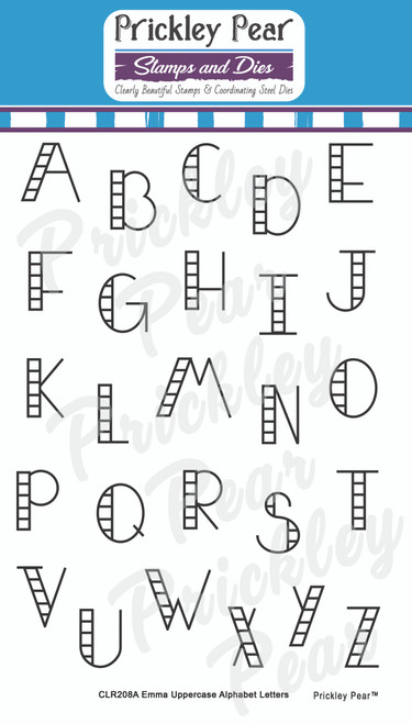 Emma Uppercase Alphabet Letters Clear Stamp Set CLR208A