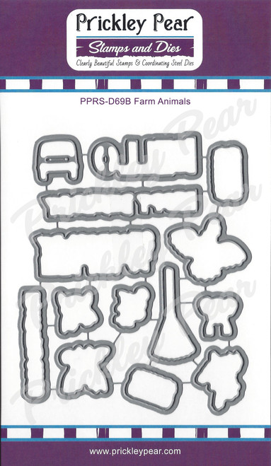 Farm Animals Die Set PPRS-D69B