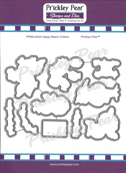 PPRS-D220 Happy Beach Critters Steel Die Set