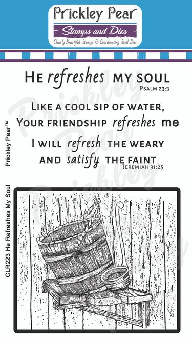 He Refreshes My Soul Clear Stamp Set CLR223