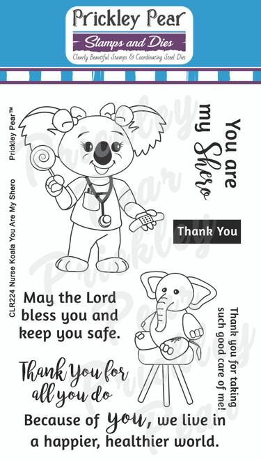Nurse Koala Bear You Are My Shero Clear Stamp Set CLR224
