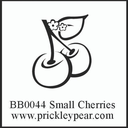 Small Cherries Red Rubber Stamp