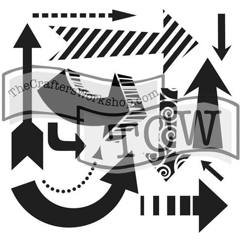 Susana's Arrows Stencil 6x6 inch TCW423s