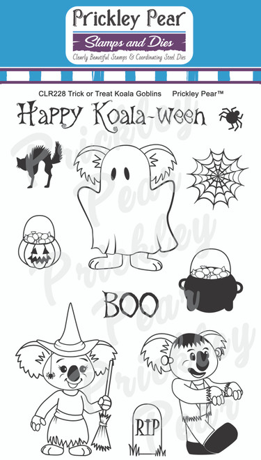 Trick or Treat Koala Goblins Clear Stamp Set CLR228