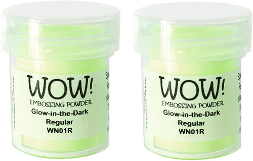 WOW! Glow in The Dark Embossing Powder WN01R (Pack of 2)