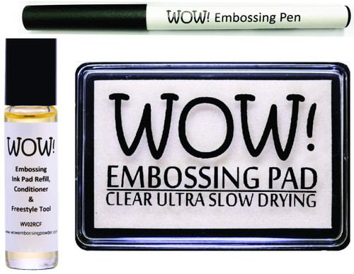 WOW! Clear Embossing Ink Pad WV02, Refill WV02RCF and Embossing Pen WV04