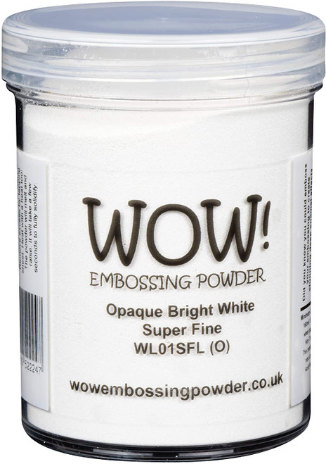 WOW! Embossing Powder Opaque Bright White Superfine Large Jar