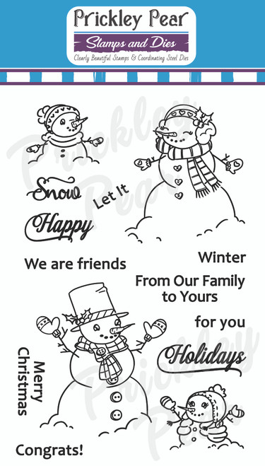 Snow Family Clear Stamp Set CLR231