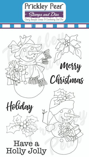 Holly Jolly Christmas Clear Stamp Set CLR232