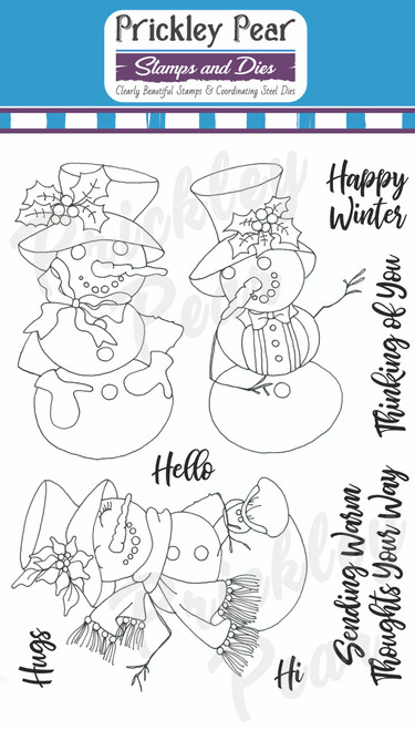 Three Snow Ladies Clear Stamp Set CLR233