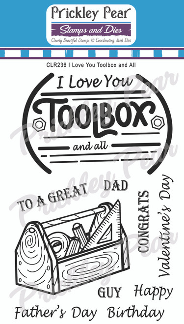 I Love You Toolbox and All Clear Stamp Set CLR236