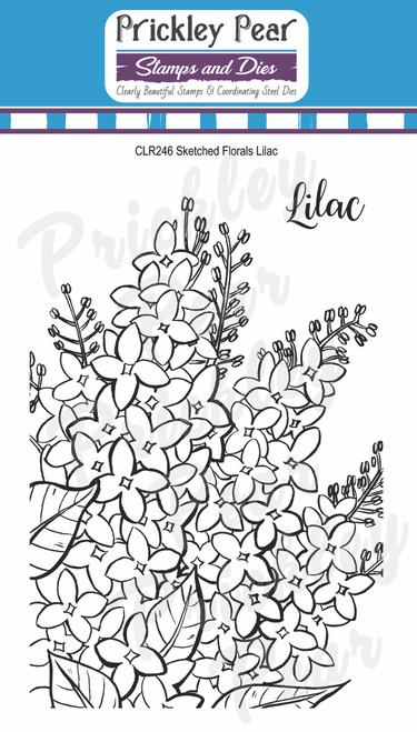 Prickley Pear Sketched Florals - Lilac CLR246