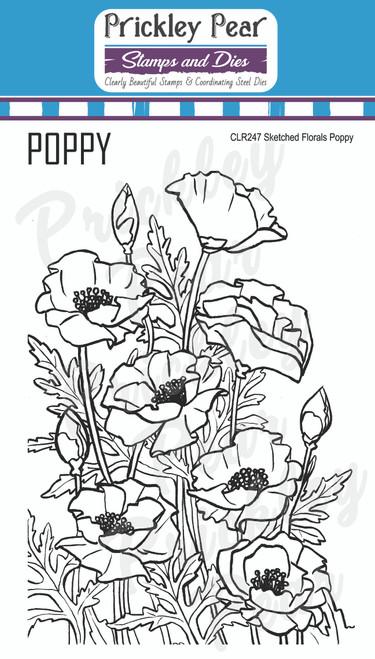 Sketched Florals - Poppy CLR247