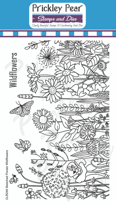 Sketched Florals - Wildflowers CLR249