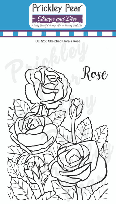 Sketched Florals - Rose CLR255