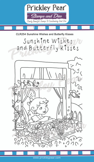 Sunshine Wishes and Butterfly Kisses Clear Stamp Set CLR254