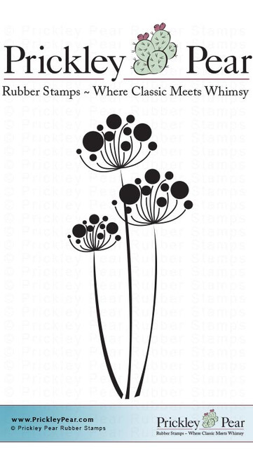 Flower Cluster, Small - Red Rubber Stamp