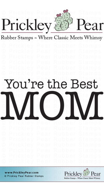 Best Mom - Red Rubber Stamp