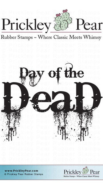 Day of the Dead - Red Rubber Stamp