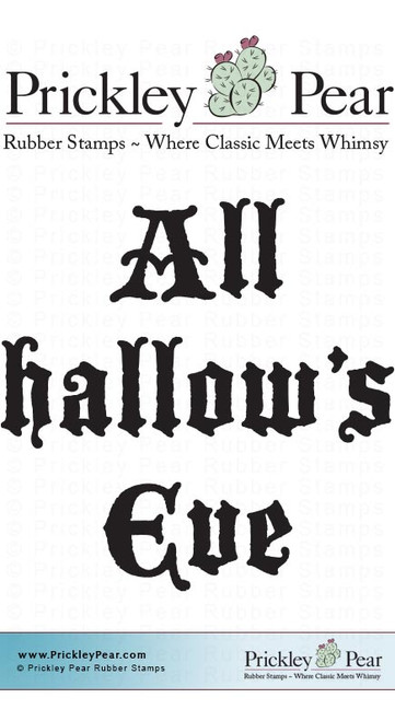 Hallow's Eve - Red Rubber Stamp
