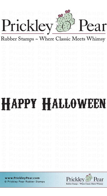 Happy Halloween 2 - Red Rubber Stamp
