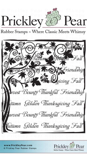 Fall Collage 3 - Red Rubber Stamp