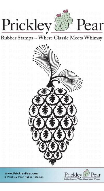 Oak Leaf Acorn - Red Rubber Stamp
