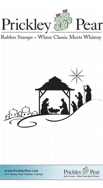 Small Nativity - Red Rubber Stamp