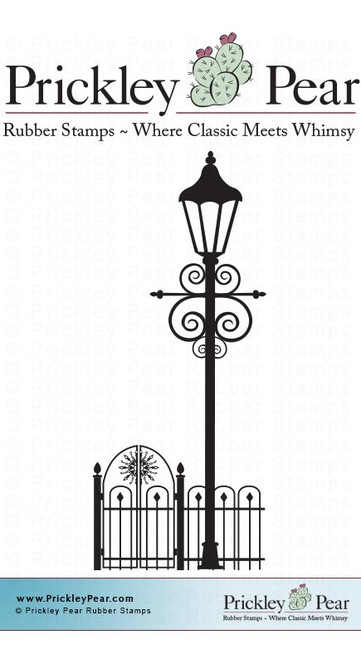 Lamp Post - Red Rubber Stamp