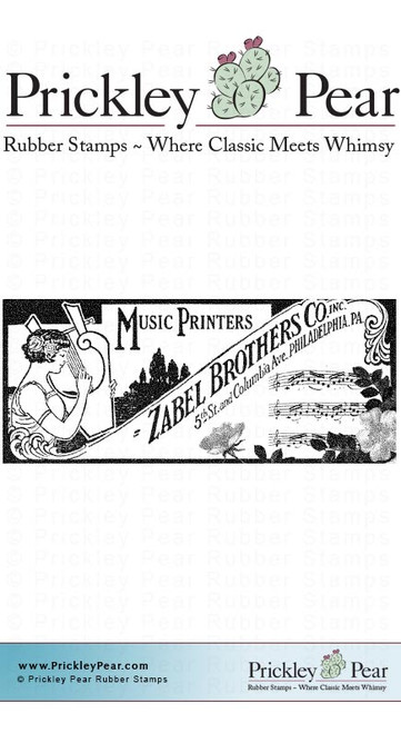 Music Printers - Red Rubber Stamp