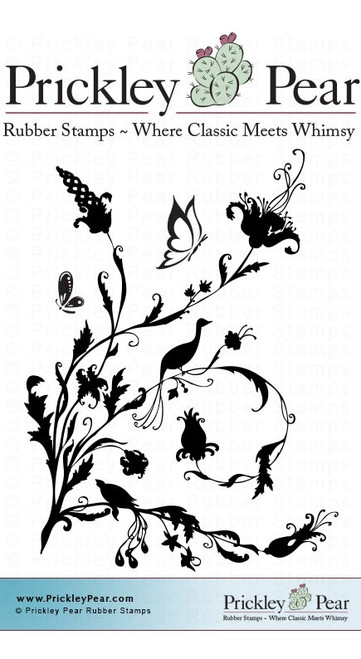 Birds of Paradise 1 - Red Rubber Stamp