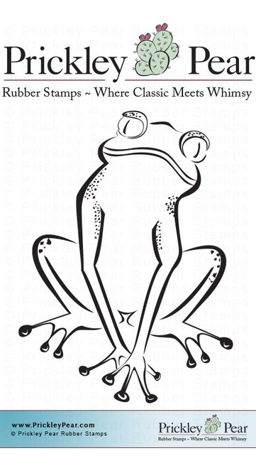 Tree Frog, Small - Red Rubber Stamp