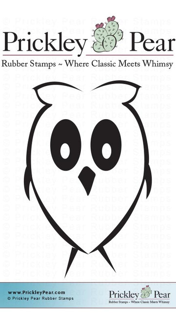 Tiny Owl - Red Rubber Stamp