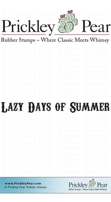 Lazy Days of Summer - Red Rubber Stamp