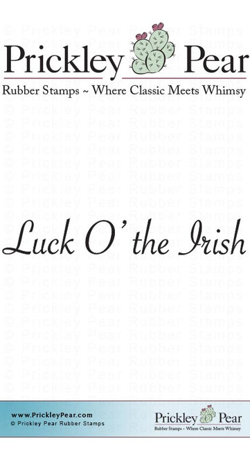 Luck O the Irish - Red Rubber Stamp