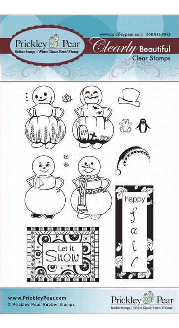 Pumpkin & Snowman - Clear Stamp Set